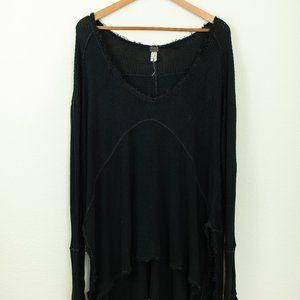 Free People Swoop neck Thermal Tunic Sweater